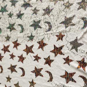 54471d891 ... Quality moon star Mermaid Sequin Textile Cloth Material Flip Two-tone  Reversible Sequin for sale ...