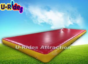 China 0.6mm PVC Red Trampoline tumble track 8m Flat Inflatable Air Tumble Track on sale