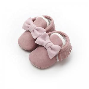 China MARCH EXPO 2019 baby shoes Bow casual shoe for toddler firstwalker Plus velvet thick infant baby boot on sale