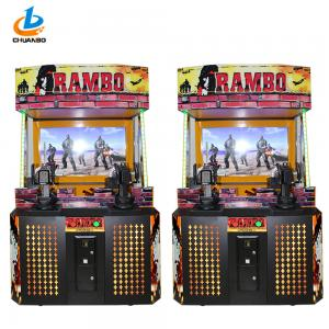 China Simulator Stallone Shooting Arcade Machine , Stand Up Arcade Game Machine on sale