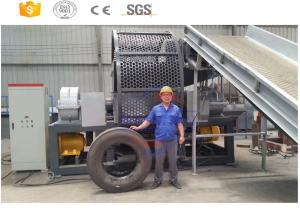 China High efficiency truck tyre cutter recycling production line manufacturer with CE on sale