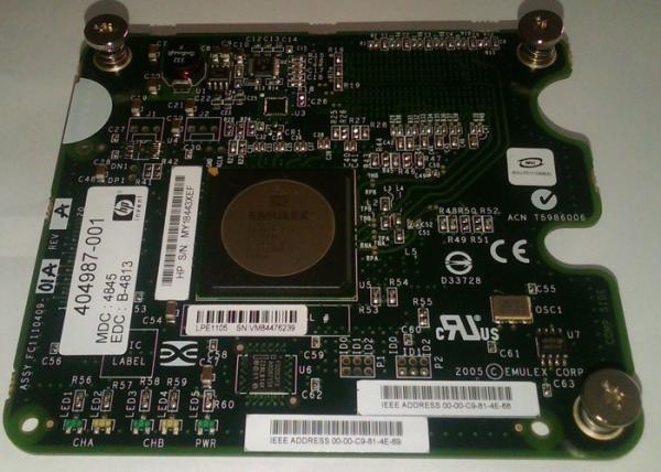 HP Emulex LPe1105 4Gb Fibre Channel 403621-B21 404987-001 NEW