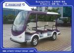 White 8 Person Electric Shuttle Car ≤4m Braking Distance 2pcs Rear View Mirror