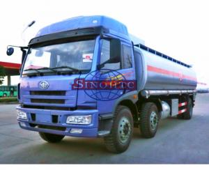 China 20 - 28 Tons Heavy Duty Fuel Carrier Truck, Gasoline / Liquid Chemical Tanker Truck on sale