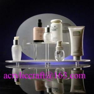 China Custom design retail shop table acrylic makeup display stand / cosmetic display rack on sale