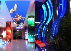 China P3.91 Curved Shape Soft Flexible LED Screen Display For Supermarket on sale