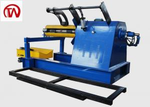 China Fully Automatic Hydraulic Coil Decoiler  High Precision 10 Tons Loading Weight on sale