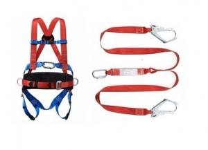 China Lineman Safety Harness Construction Safety Tools 100% Polyester Safety Belt on sale