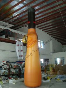 China UV Protective PVC Tarpaulin Inflatable Bottle For Indoor Activities With Silk - Screen Printing on sale