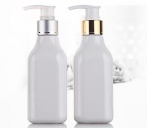 China 200ml White PET Shampoo Dispenser Bottles Durable For Cosmetic Packaging on sale