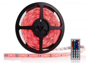 China 5M Ribbon LED RGB Strip Lights 60LEDS IP65 Self - Adhesive For Bedroom on sale