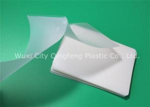China 125micron Transparent Pouch Laminating Film 80x110 mm With High Plastic Component on sale