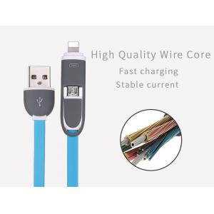 China 2 in 1 multi use mobile phone Micro Usb Cable replacement for iphone usb cable, for iphone Android cable charger on sale