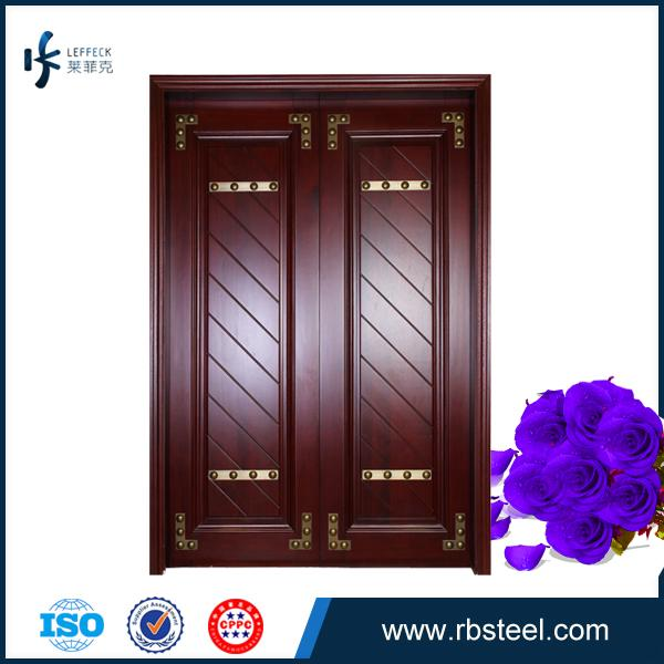 Factory Directly Sale Villa Front Entrance Double Wooden Doors For