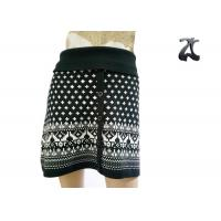 China Pure Acrylic Womens Knit Skirts Contrast Color with Button Front Fit Style on sale