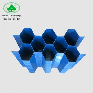 China 1000mm * 1000mm Lamella Plate Tube Settler Media For Industrial Waste Water Treatment on sale