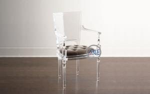 China Crystal Clear Acrylic Furniture Custom Acrylic Chairs Transparent Customized Color on sale