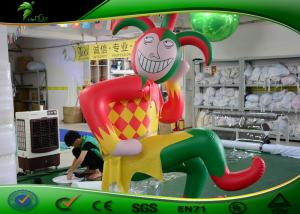 China Clown / Joker Shaped Inflatable Cartoon Characters For Advertising 2m - 7m Height on sale