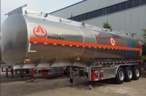 China Remorque chimique dangereuse de réservoir d'alliage d'aluminium semi 42 - poids léger 50 cubique on sale