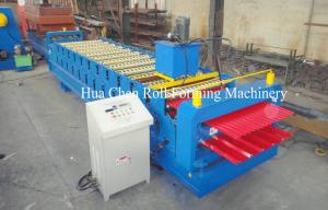 China Double Layer Roof Panel Color Steel Sheet Roll Forming Machine With 12 / 13 Rows on sale