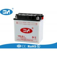China Powerful Dry Charged Motorcycle Battery 12v 9Ah  White ABS Container Corrosion Resistant on sale