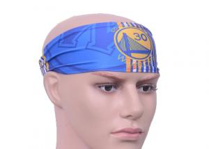 China Unisex NBA Authentics Printed Headwear Headbands with Team Golden State Warriors Logo on sale