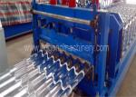 Aluminum Step Roof Tile Roll Forming Machine , Sheet Metal Forming Machine