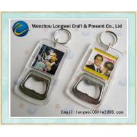 Obama pattern acrylic bottle opener as decorated souvenir keychain