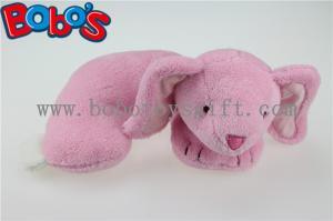 China Oreiller de soutien de cou de lapin de rose de peluche d'oreiller de cou de forme d'U on sale