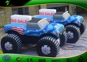 China Customized Inflatable Car Shapes / Giant Inflatable Car Model Balloon For Advertising on sale