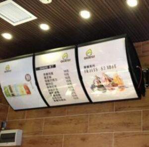 China double sides menu light  box,KFC menu light box, fast food restaurant menu board, on sale