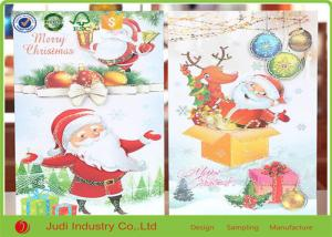 China Unique Christmas Thank You Cards Circular / Oval Seasons Greetings Cards on sale