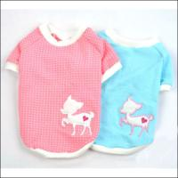 Pink / Blue Cute Personalized Dog Tee Shirt with S, M, L, XL