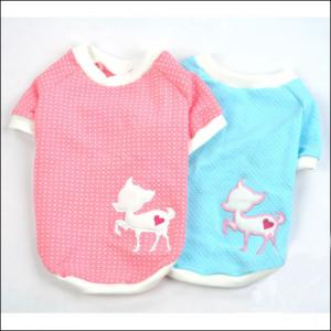 China Pink / Blue Cute Personalized Dog Tee Shirt with S, M, L, XL on sale