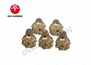 China Anti - Wear Flat Face Borehole Drilling Tools / Carbide Button Bits 2 Flushing Holes on sale