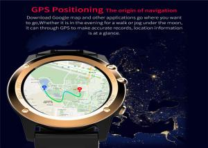 China GPS Navigation LED Smart Watch MTK6572 Dual Core CPU Stainless Steel Watch Case on sale