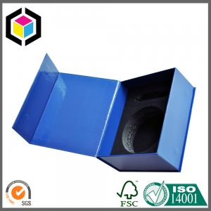 China Glossy Blue Color Printed Paper Packaging Box; EVA Inlay Gift Box on sale