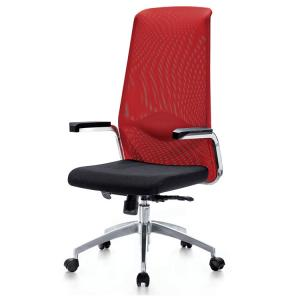 China Full mesh office chair with metal tube armrest PU arm padding on sale