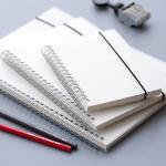 OEM Recycled Paper Spiral Bound Book Printing Removable White PP Spiral Notebook