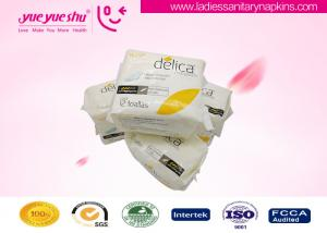 China Super Absorbency Organic Cotton Sanitary Napkin 240mm Day Use With Negative Ion on sale
