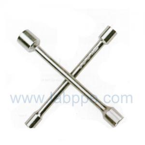 Quality S2014-Knurled fog surface Cross Rim Wrench/Cross tire wrench,4 way X type car wheel wrench for sale