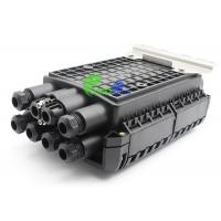 China 16F 24F IP68 Black Plastic Fiber Optic Closure For Wall Mount And Outdoor Application on sale