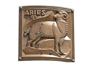 Quality Contemporary Metal Aries Bronze Relief For Outdoor / Indoor Decoration for sale