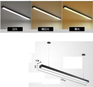China Rectangular Linear Led Ceiling Lights , Modernled Hanging Lights For Office on sale
