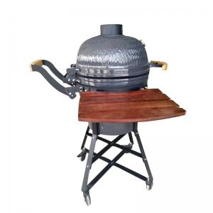 China Cast Iron Grate Porcelain Enamel Big Egg Grill 21 Inch High Pressure Protection Device on sale
