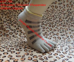 China knitting pattern custom design jacquard funny cotton five toe socks on sale