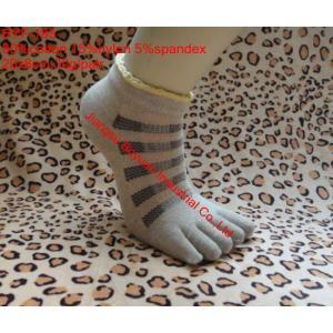 China knitting pattern custom design jacquard funny cotton five toe socks on sale