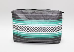 China Custom Makeup Cosmetic Bag Waterproof Pattern Personalized Tyvek Paper on sale