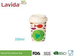 China Eco Friendly Bamboo Cup To Go Reusable Long Lasting Dishwasher Safe Matt Finish on sale