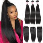 8A Grade 100 Unprocessed Malaysian Straight Hair Bundles For Ladys